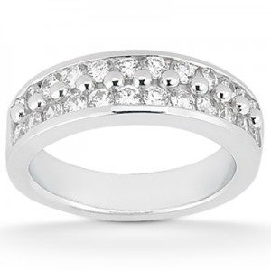 Taryn Collection Platinum Wedding Ring TQD B-424