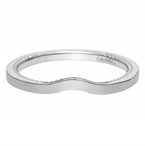 Gabriel 14 Karat Contemporary Wedding Band WB8729W4JJJ
