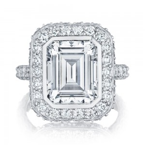 Tacori HT2614EC11X9 18 Karat RoyalT Engagement Ring