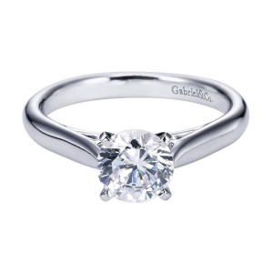 Gabriel 14 Karat Contemporary Engagement Ring ER6672W4JJJ