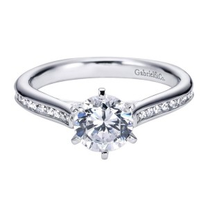 Gabriel 14 Karat Contemporary Engagement Ring ER6674W44JJ