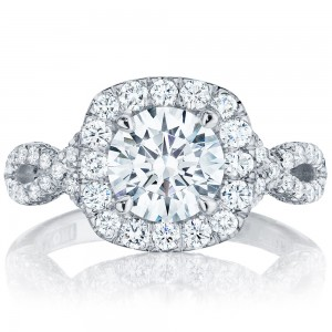 HT2549CU75 Platinum Tacori Petite Crescent Engagement Ring