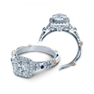 Verragio Parisian-CL-DL109CU Platinum Engagement Ring