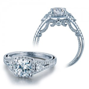 Verragio Platinum Insignia-7068CU Engagement Ring