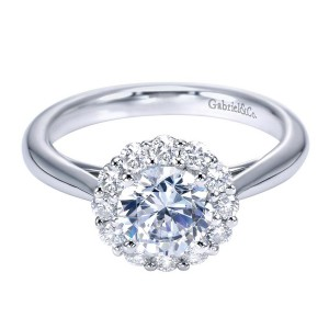 Gabriel 14 Karat Contemporary Engagement Ring ER7721W44JJ