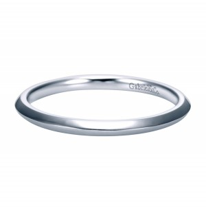Gabriel Platinum Contemporary Wedding Band WB7737PTJJJ
