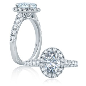 A.JAFFE Platinum Signature Engagement Ring MES868