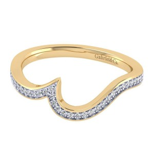 Gabriel 14 Karat Contemporary Wedding Band WB7244Y44JJ