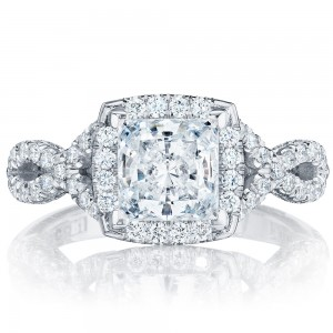 HT2549PR65 Platinum Tacori Petite Crescent Engagement Ring
