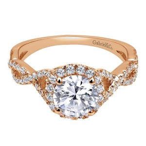 Gabriel 14 Karat Contemporary Engagement Ring ER7543K44JJ