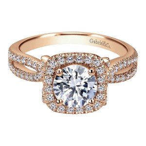 Gabriel 14 Karat Contemporary Engagement Ring ER7806K44JJ