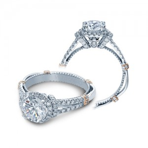 Verragio Parisian-DL117R Platinum Engagement Ring