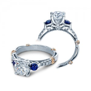 Verragio Parisian-CL-DL124R Platinum Engagement Ring