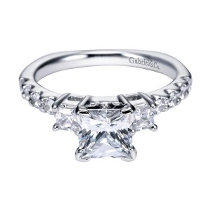 Gabriel 14 Karat Contemporary Engagement Ring ER4020W44JJ