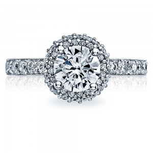 Tacori 38-25RD65 18 Karat Blooming Beauties Engagement Ring
