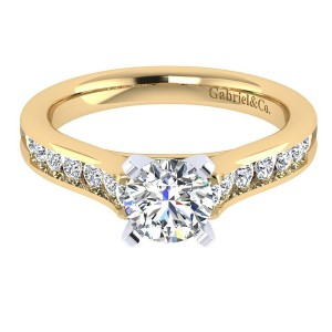 Gabriel 14 Karat Contemporary Engagement Ring ER7438M44JJ