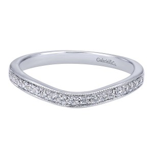 Gabriel 14 Karat Contemporary Wedding Band WB10425W44JJ