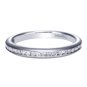 Gabriel 14 Karat Contemporary Wedding Band WB7473W44JJ