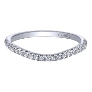 Gabriel 14 Karat Contemporary Wedding Band WB10161W44JJ