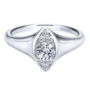 Gabriel 14 Karat Contemporary Engagement Ring ER911941R0W44JJ