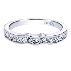 Gabriel 14 Karat Contemporary Wedding Band WB2294W44JJ