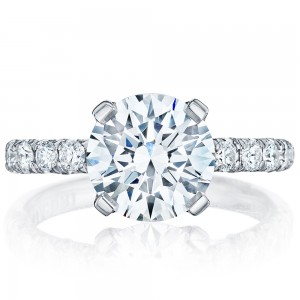 HT254525RD9 Platinum Tacori Petite Crescent Engagement Ring