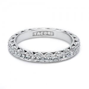 Tacori Platinum Crescent Silhouette Wedding Band HT2259B