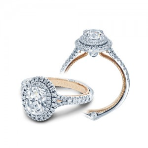 Verragio Couture-0425OV-TT Platinum Engagement Ring