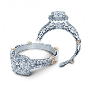 Verragio Parisian-DL107CU Platinum Engagement Ring
