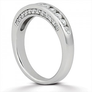 Taryn Collection Platinum Wedding Ring TQD B-703