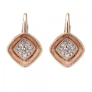 Gabriel Fashion 14 Karat Lotus Leverback Earrings EG12236K45JJ