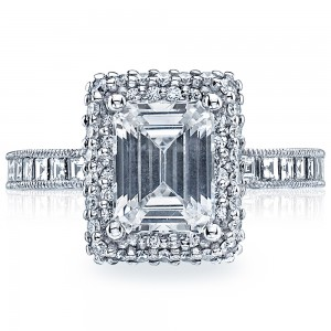 HT2517EC85X65 Platinum Tacori Blooming Beauties Engagement Ring