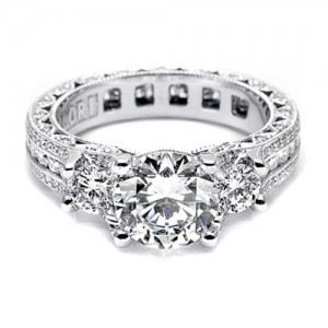 Tacori Crescent Platinum Engagement Ring HT2514RD85