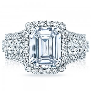 Tacori HT2613EC10X8 18 Karat RoyalT Engagement Ring