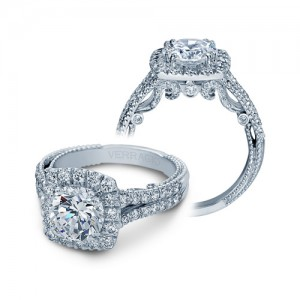 Verragio Insignia-7062CUL Platinum Engagement Ring