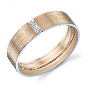 243580 Christian Bauer 18K - Plat Diamond  Wedding Ring / Band