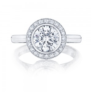 304-25RD75 Platinum Tacori Starlit Engagement Ring