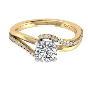 Gabriel 14 Karat Contemporary Engagement Ring ER6974M44JJ
