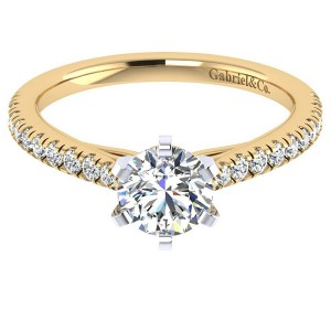 Gabriel 14 Karat Contemporary Engagement Ring ER7533M44JJ