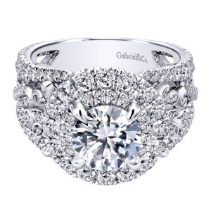 Gabriel 18 Karat Contemporary Engagement Ring ER11998R6W83JJ