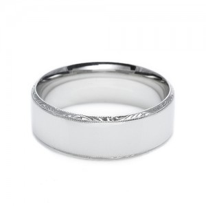 Tacori Platinum Hand Engraved Wedding Band 2553 5.5
