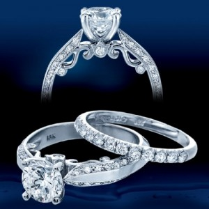 Verragio Platinum Insignia Engagement Ring INS-7038