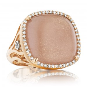 SR165P36 Tacori 18k925 Moon Rose Ring
