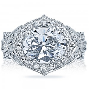 Tacori HT2611OV11X9 18 Karat RoyalT Engagement Ring
