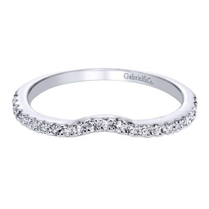 Gabriel 14 Karat Contemporary Wedding Band WB5375W44JJ