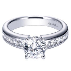 Gabriel Platinum Contemporary Engagement Ring ER3986PT3JJ