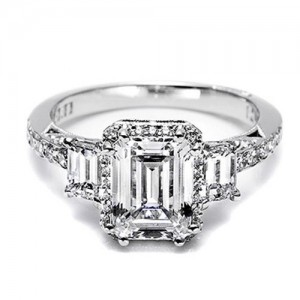 Tacori Dantela Platinum Engagement Ring 2621ECLGP