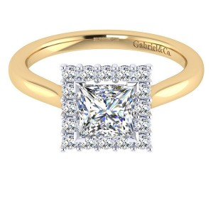 Gabriel 14 Karat Contemporary Engagement Ring ER7499M44JJ