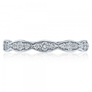 Tacori 46-25 18 Karat Sculpted Crescent Diamond Wedding Band