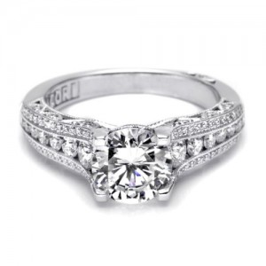 Tacori Crescent Platinum Engagement Ring HT2513RD7512X
